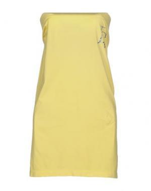 Короткое платье LORELLA SIGNORINO. Цвет: желтый