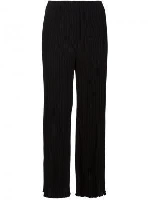 Расклешенные плиссированные брюки Proenza Schouler. Цвет: чёрный
