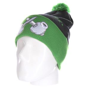 Шапка Truespin Criminal Mind Pomme Charcoal Green. Цвет: серый,зеленый
