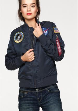 Куртка-бомбер ALPHA. Цвет: темно-синий