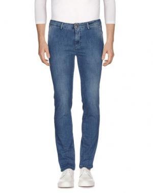 Джинсовые брюки YAN SIMMON. Цвет: синий