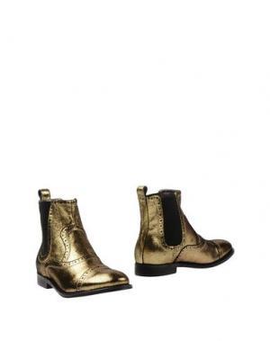 Полусапоги и высокие ботинки ATELIER MERCADAL. Цвет: золотистый