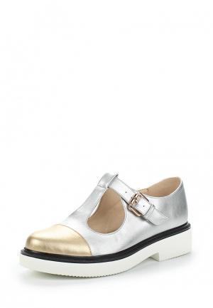 Ботинки Bona Dea. Цвет: серебряный