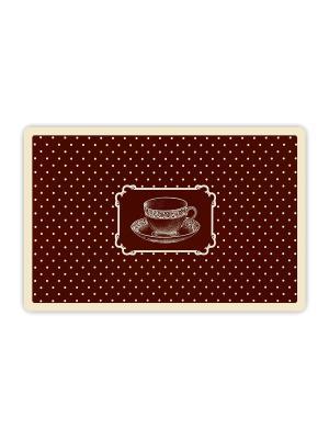 Набор салфеток сервировочных (плейсмат) 44х29см Кофейная чашка 4шт NIKLEN. Цвет: коричневый