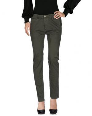 Повседневные брюки GREY DANIELE ALESSANDRINI. Цвет: зеленый-милитари