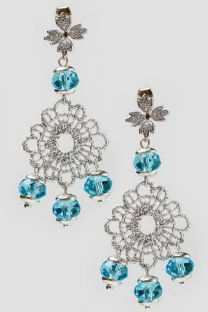 Серьги Patricia Bruni. Цвет: голубой