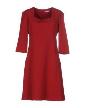 Короткое платье HOPE COLLECTION. Цвет: кирпично-красный