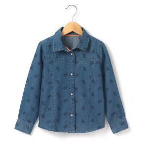 Рубашка из джинсы R kids. Цвет: рисунок бандана