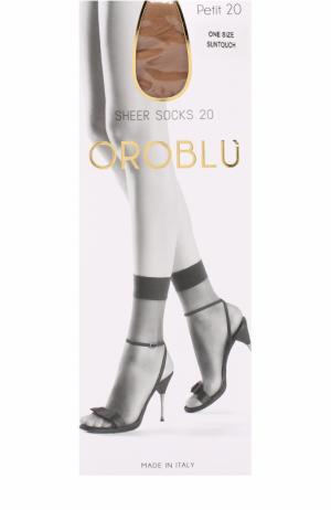Капроновые носки Oroblu. Цвет: светло-коричневый