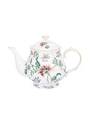 Чайник Цветочный каприз Elan Gallery. Цвет: зеленый, голубой, красный