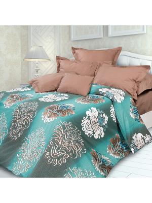 Комплект постельного белья 1,5 биоматин Фабрис Унисон. Цвет: бирюзовый, коричневый