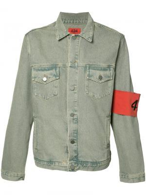 Denim trucker jacket 424 Fairfax. Цвет: синий