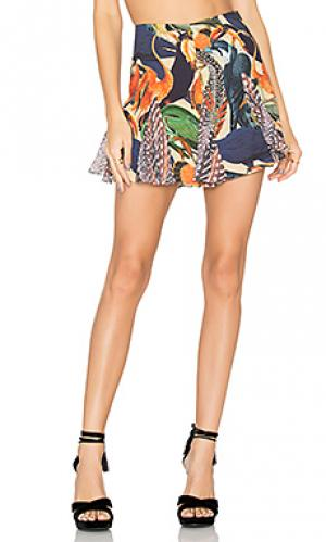 Multi print mini skirt AGUADECOCO. Цвет: оранжевый