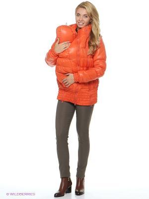 Куртка EUROMAMA. Цвет: оранжевый