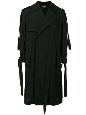 Свободное пальто с асимметричной застежкой Yang Li. Цвет: чёрный