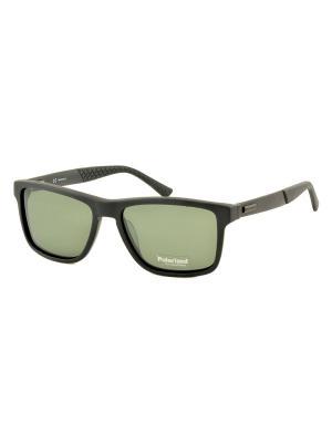 Солнцезащитные очки MEGAPOLIS. Цвет: антрацитовый, серо-зеленый