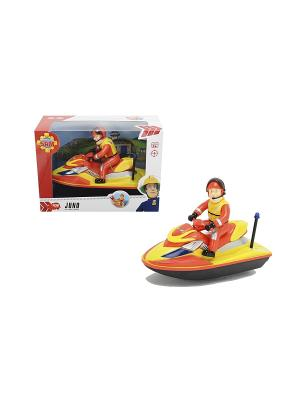 Пожарный Сэм, Водный скутер на батарейках, 22см, 6/12 Dickie. Цвет: красный, оранжевый