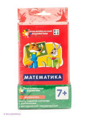 Матемематика. Комплект из 6 наборов карточек с картинками. АЙРИС-пресс. Цвет: зеленый, желтый, красный