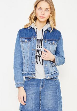 Куртка джинсовая LC Waikiki. Цвет: голубой