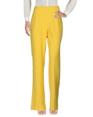 Повседневные брюки CAMILLA Milano. Цвет: желтый