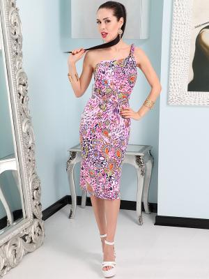 Платье Lussotico. Цвет: розовый, желтый, синий, рыжий