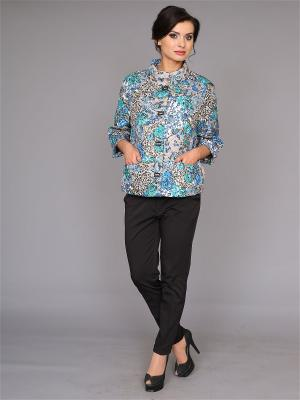 Куртка nasha. Цвет: бежевый, белый, голубой