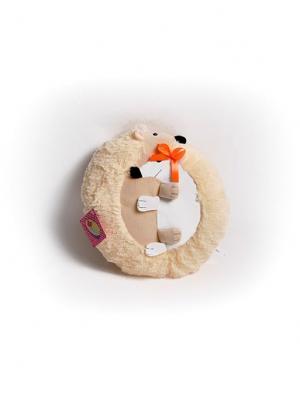 Мягкая игрушка Неразлучники Ежики Malvina. Цвет: светло-бежевый, белый