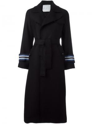 Пальто Eva Giada Benincasa. Цвет: чёрный