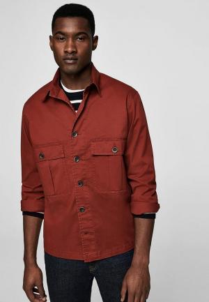 Куртка Mango Man. Цвет: оранжевый