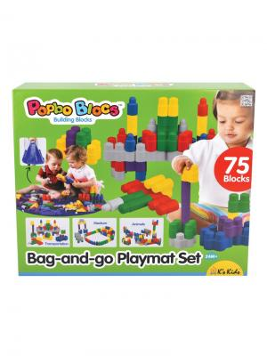 Игровой набор конструктор Мега Блоки K'S Kids. Цвет: синий, белый, желтый, зеленый, красный