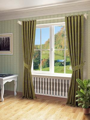 Комплект штор SANPA HOME COLLECTION. Цвет: зеленый