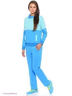 Спортивный костюм FORLIFE. Цвет: голубой, бирюзовый