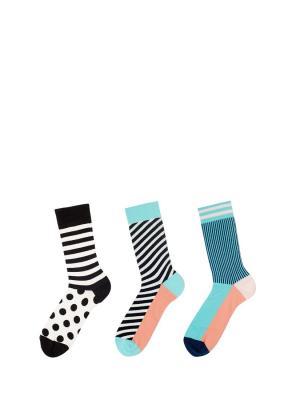 Носки Sammy Icon. Цвет: черный, белый, голубой