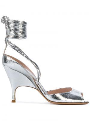 Босоножки с шнуровкой Alchimia Di Ballin. Цвет: металлический