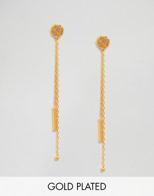 Ottoman Hands Серьги с двойными цепочками. Цвет: золотой