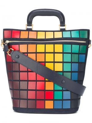 Большая сумка-тоут Pixels Anya Hindmarch. Цвет: синий