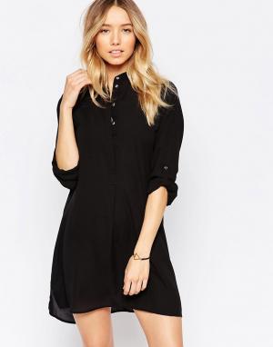 Echo Пляжное платье-рубашка. Цвет: черный