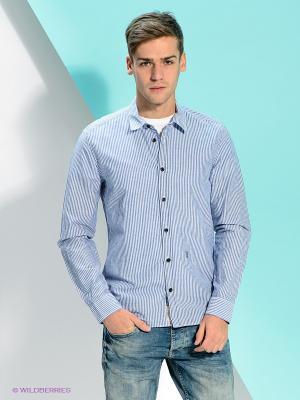 Рубашка PEPE JEANS LONDON. Цвет: синий, белый