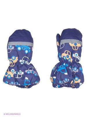 Варежки детские Cherubino. Цвет: синий