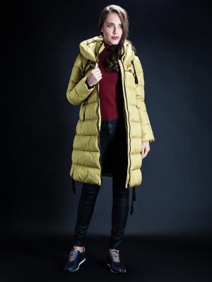 Куртка Clasna. Цвет: горчичный