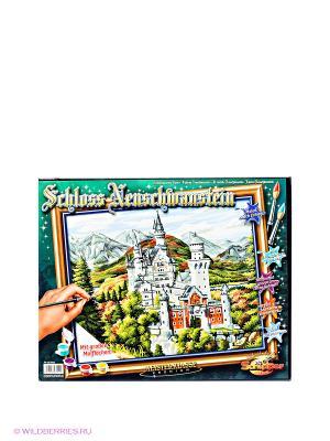 Раскраска по номерам Замок Нойшванштайн Schipper. Цвет: зеленый