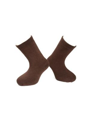 Носки махровые MilanKo. Цвет: коричневый