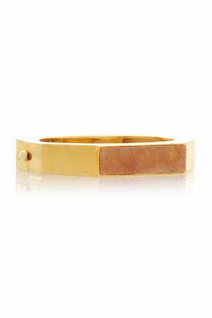 Браслет из латуни Lizzie Fortunato. Цвет: золотой, золотисто-бежевый