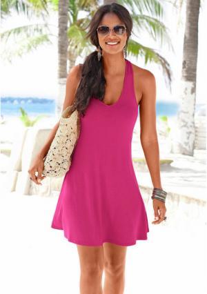 Пляжное платье. Цвет: бирюзовый, черный