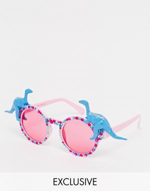 Spangled Солнцезащитные очки с динозаврами Queen Dino