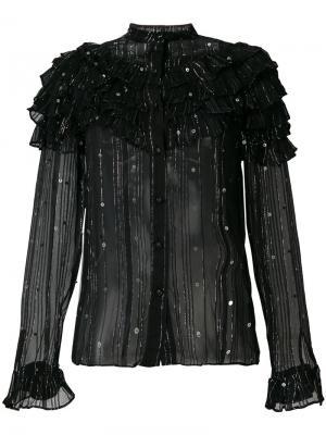 Декорированная блузка Dodo Bar Or. Цвет: чёрный
