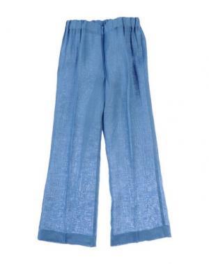 Повседневные брюки LA STUPENDERIA. Цвет: пастельно-синий
