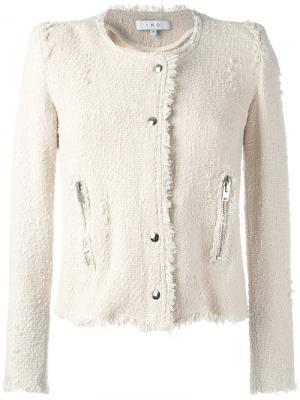 Укороченный пиджак без воротника Iro. Цвет: телесный
