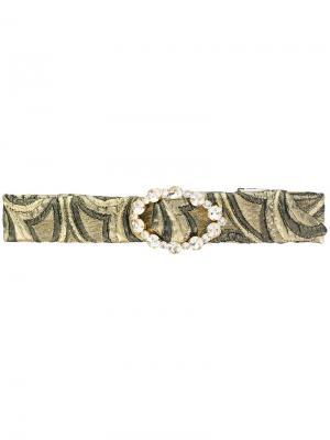 Ободок для волос с кристаллами Gigi Ca&Lou. Цвет: металлический