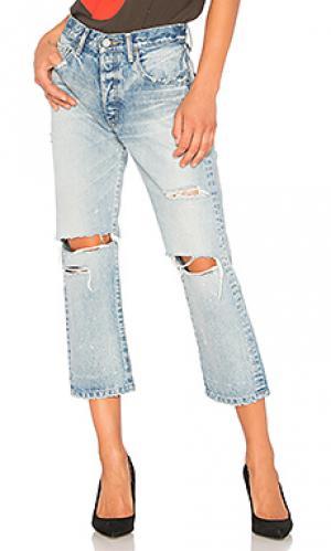 Укороченные прямые джинсы malaga Moussy. Цвет: none